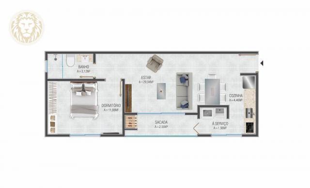Apartamento com 1 dormitório à venda, 59 m² por R$ 275.000 - Ribeirão da Ilha - Florianópo - Foto 6