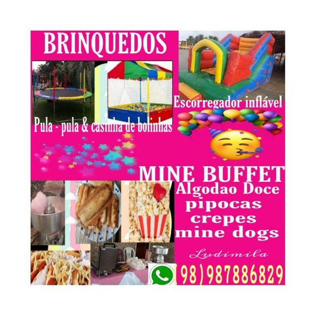 Buffet e Brinquedos