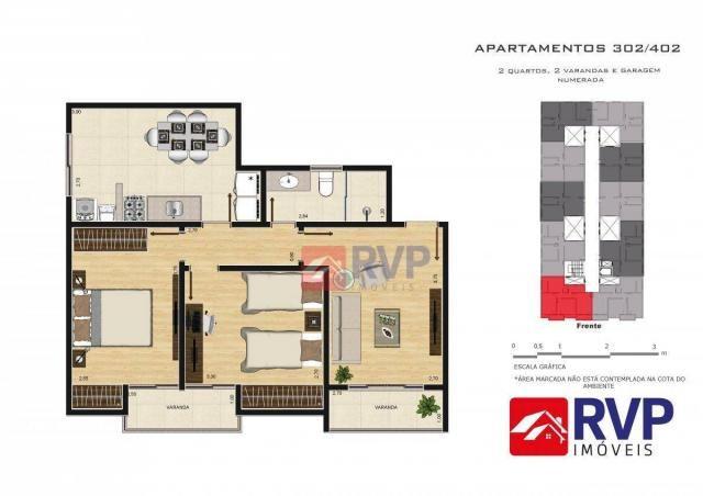 Apartamento com 2 dormitórios à venda por R$ 189.000,00 - Recanto da Mata - Juiz de Fora/M - Foto 13