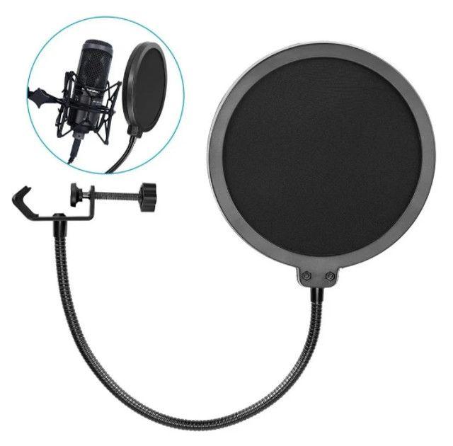 Pop Filter P/ Microfone - Somos loja - Novo + NF
