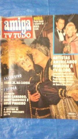 Revista amiga tv tudo década de 80.