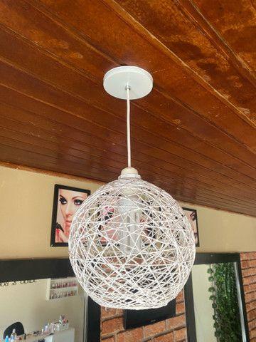 Luminária estilo bola - Foto 5