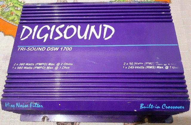 Vendo módulo de som automotivo Digisound 1700 Watts (testado, funcionando perfeitamente) - Foto 4