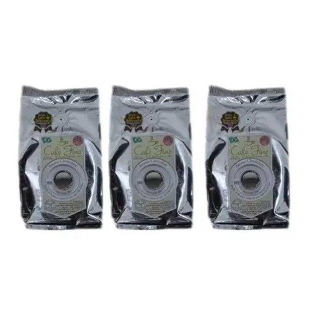 Kit 3 Pacotes Café 100% Arábica Gourmet Moído com Aroma de Chocolate - 250g