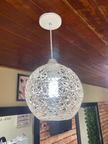 Luminária estilo bola - Foto 4
