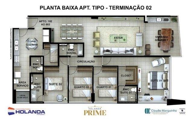 JS- Lançamento na Beira Mar de Casa Caida - 144m²   Varanda Gourmet Holanda Prime - Foto 15