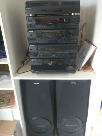 Vendo som e varias fitas, cds, lp - Foto 2
