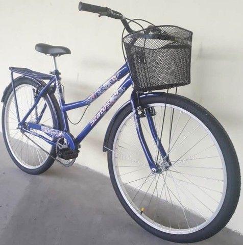 Bicicleta feminina aro 26 azul nova - Foto 2