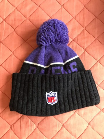 Vendo touca gorro lã Ravens NFL oficial nova - Foto 2
