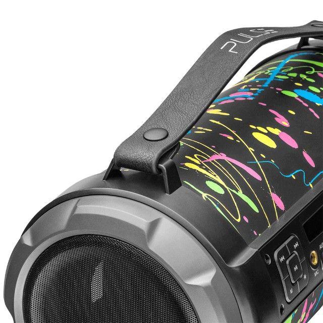 Caixa de Som Portátil Pulse Bazooka SP362 com Bluetooth, USB, Micro SD Rádio FM 120W - Foto 4