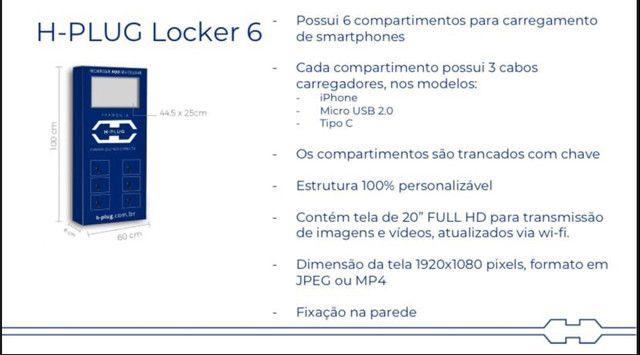 Locação de totem de carregador de celular (Locker 6) - Foto 3