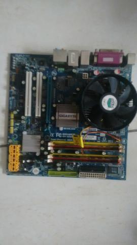 Kit placa mae+core 2 duo+4gb