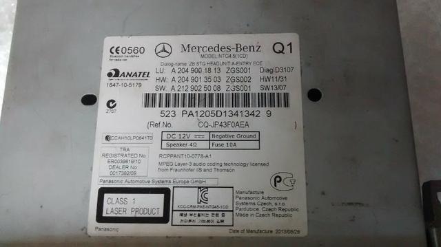 Rádio Central Multimídia Mercedes Benz C180 2013 Original - Foto 5