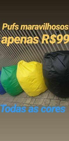 PUF REFORÇADO TOP À PRONTA ENTREGA RÁPIDA PROMOÇÃO AGUENTA MAIS DE 100 KILOS  - Foto 5