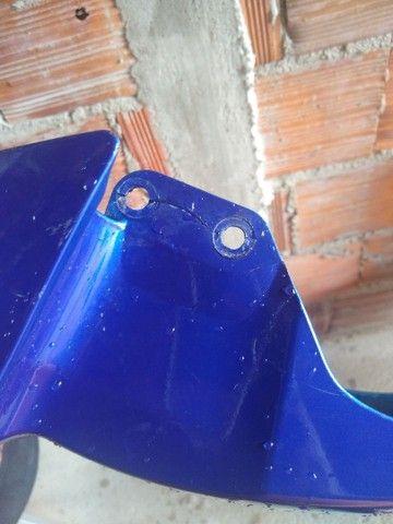 Paralama da Yamaha azul e um par de pisca - Foto 2
