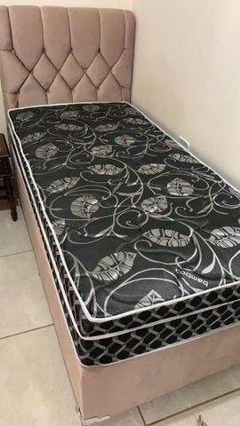 Vendo cama com cabeceira personalizada  - Foto 2