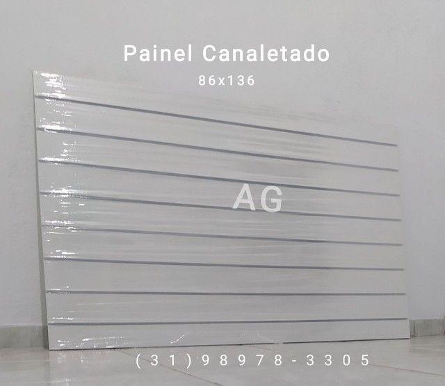 Painel Canaletado 86x136. Painel Canelado + Friso Personalizado Branco. 12x Sem juros - Foto 5