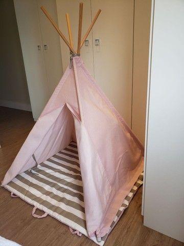 Cabana infantil decorativa rosa