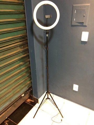 Ring light 30 cm com tripe 2,1 metros (Novo) - Foto 3