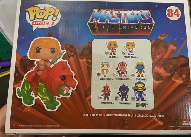 Funko Pop! Rides Masters of The Universe: He-Man on BattleCat #84 - Foto 6