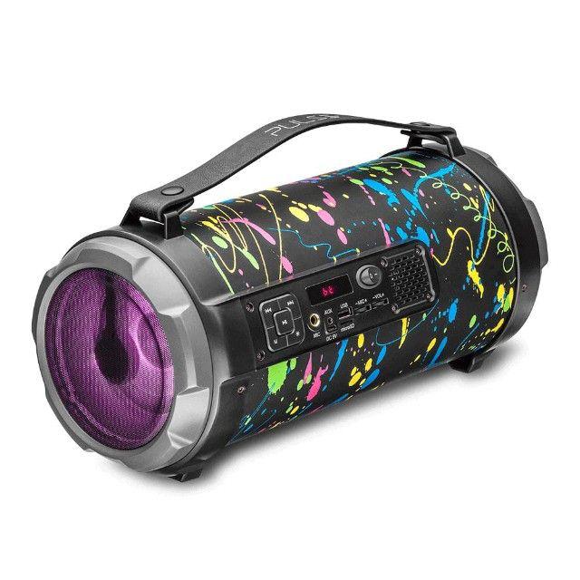 Caixa de Som Portátil Pulse Bazooka SP362 com Bluetooth, USB, Micro SD Rádio FM 120W