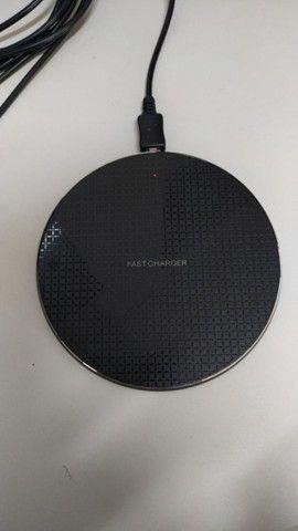 Carregador rápido Qi Base Wi-fi 5w/10w universal(Novos) - Foto 2