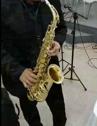 SAX saxofone Windsor revisado,  lindo impecável  - Foto 6