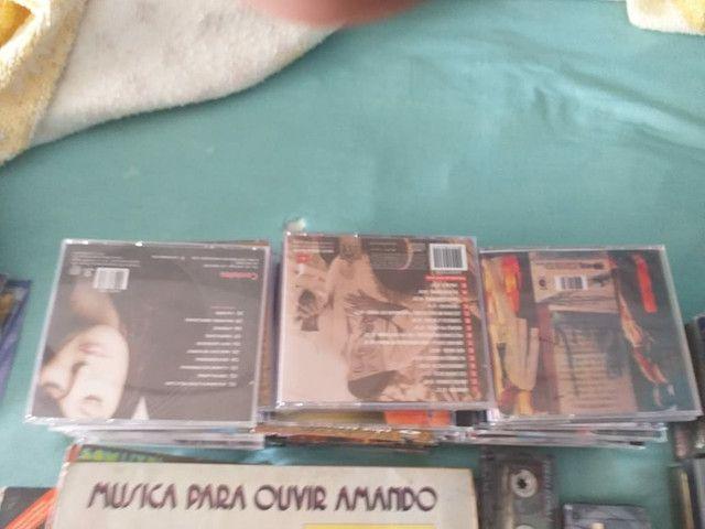 Vendo som e varias fitas, cds, lp - Foto 4