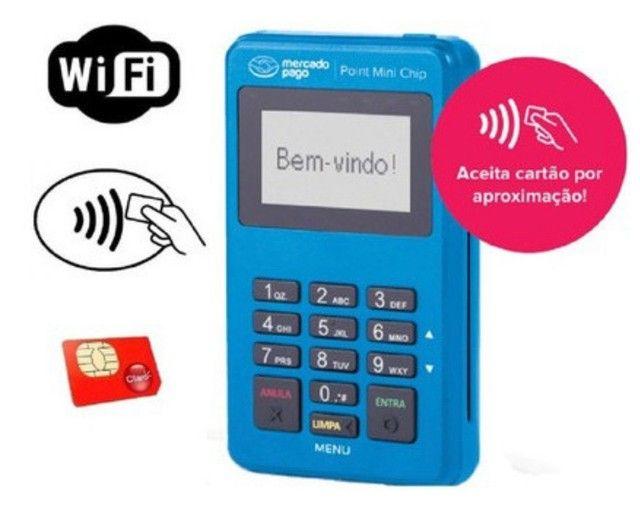 Maquininha Point mini chip não precisa de celular