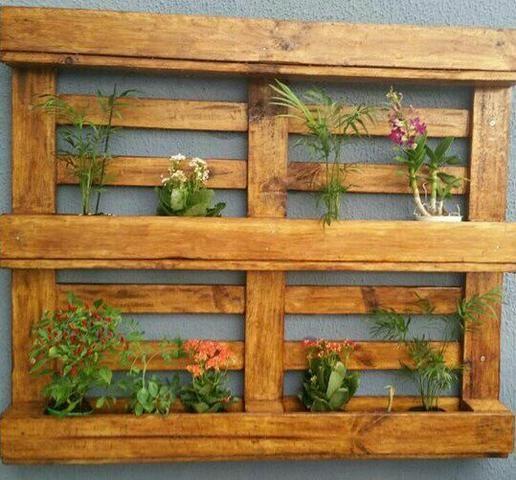 Porta Vaso ( Horta/jardim ) De Paletes, Rústico