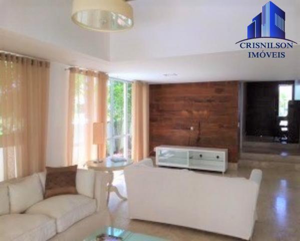 Casa à venda condomínio alphaville i salvador, decorada, 4 suítes, r$ 2.500.000,00, piscin - Foto 8