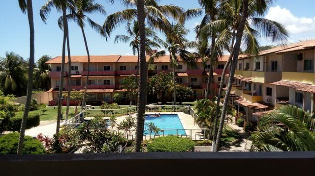 Apartamento Barra de São Miguel, 2 quartos c/ ar condicionado, varanda e piscina - Foto 14