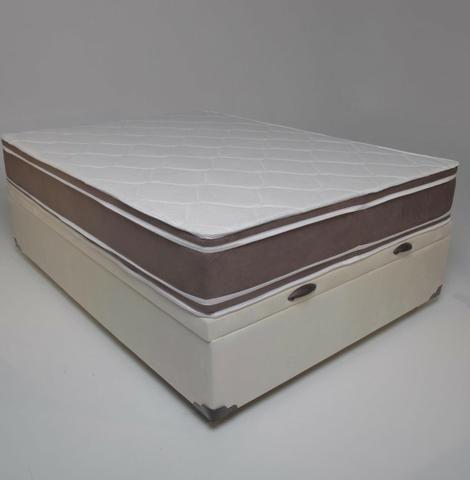 Conjunto baú king size (193x203) + colchão de molas ensacadas Apenas 1999,00 - Foto 2