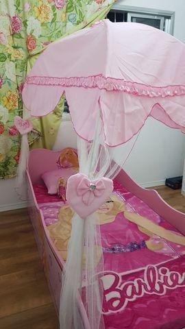Cama Barbie Star Com Dossel Pura Magia - Rosa - Foto 3