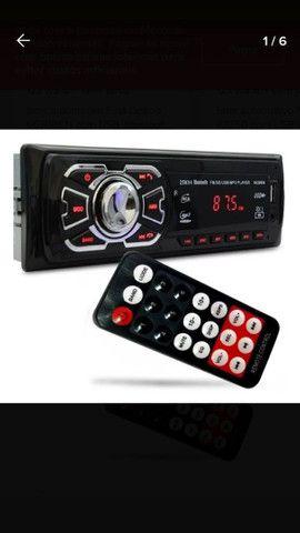 Aparelho De Som Carro Automotivo Bluetooth Pendrive Sd Rádio - Foto 2