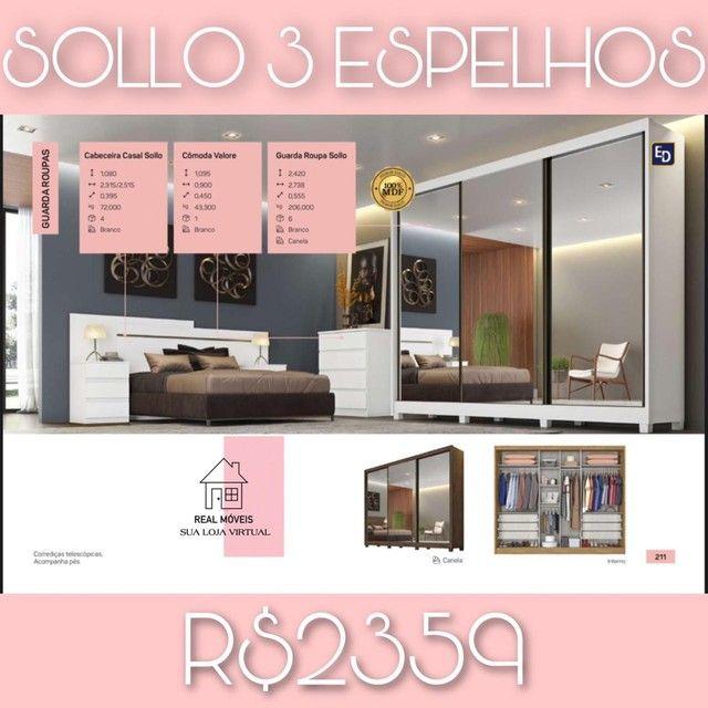 Guarda roupa Sollo 3 espelhos guarda roupa Sollo 3 espelhos real móveis entrego