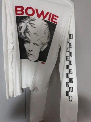 Camisa de manga longa original vans com David Bowie  - Foto 3