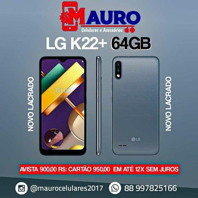 LG k22+ 64GB novo