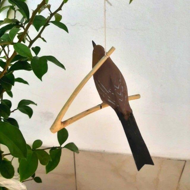 Pássaro de Madeira Rouxinol - Foto 3