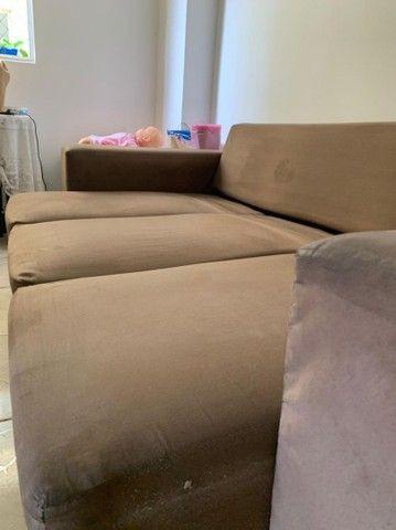Vendo Sofá  chaise conservadíssimo  - Foto 3