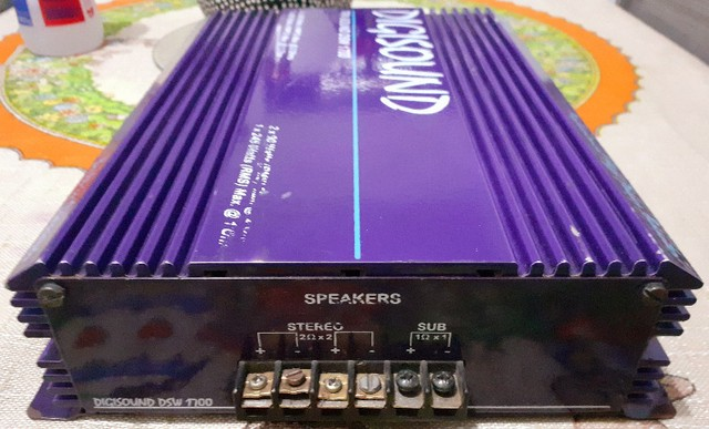 Vendo módulo de som automotivo Digisound 1700 Watts (testado, funcionando perfeitamente) - Foto 2