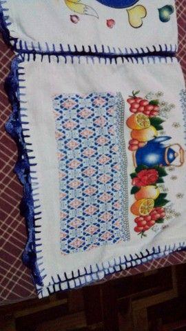 Panos de prato com bico de crochê - Foto 2