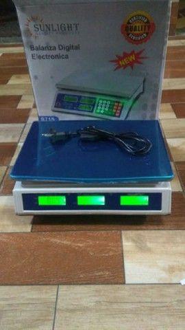 Balança digital eletrônica 40 kg - Foto 3