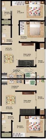 Apartamento à venda com 2 dormitórios em Ingleses, Florianópolis cod:1297