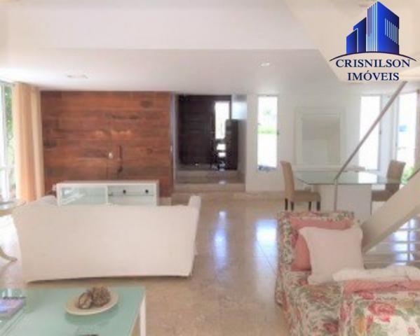 Casa à venda condomínio alphaville i salvador, decorada, 4 suítes, r$ 2.500.000,00, piscin - Foto 6