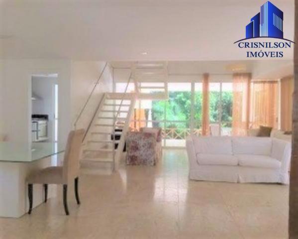 Casa à venda condomínio alphaville i salvador, decorada, 4 suítes, r$ 2.500.000,00, piscin - Foto 2