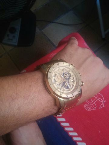 b549d8b486c Relógio Bvlgari skeleton série ouro TROCO - Bijouterias
