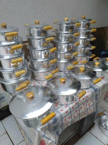 Jogos de panelas de alumínio batidos