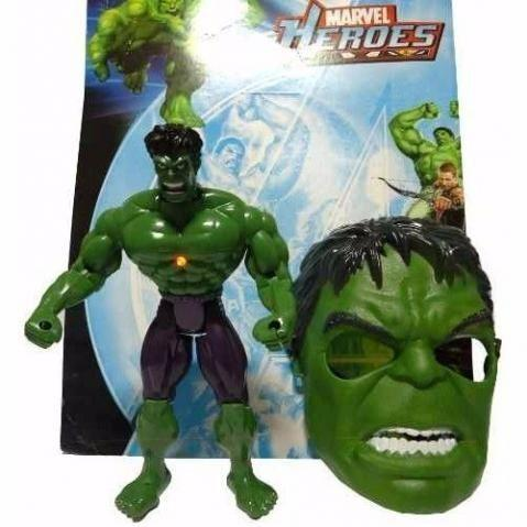 Boneco Hulk Mais Mascara e Led Grande 28 Cm - Foto 2