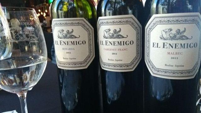 Vinhos Argentinos El Enemigo Bonarda, El Enemigo Cabernet  Franc, El Enemigo Malbec